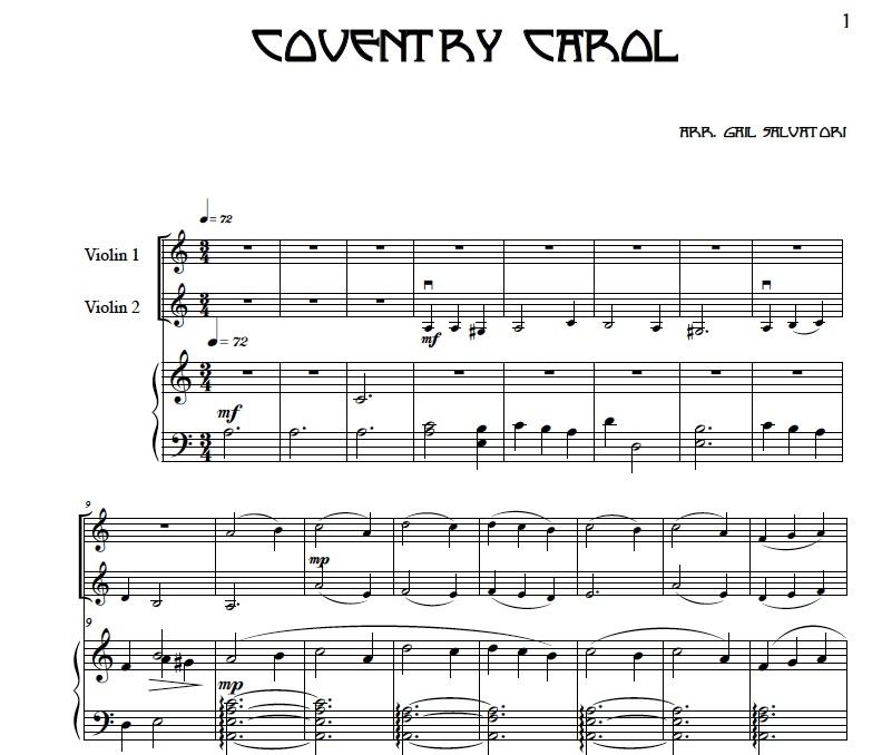 Violin Sheet Music